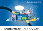 vector illustration. business... | Shutterstock .eps vector #714777829