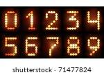 neon numbers set | Shutterstock .eps vector #71477824