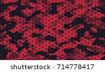 seamless elite tan red camo... | Shutterstock .eps vector #714778417