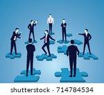 vector illustration. business... | Shutterstock .eps vector #714784534