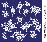 flower illustration material | Shutterstock .eps vector #714785341