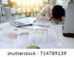 office work for business... | Shutterstock . vector #714789139