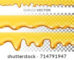 set of two transparent vector... | Shutterstock .eps vector #714791947