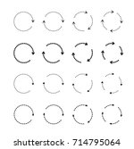 sets of black circle arrows....   Shutterstock .eps vector #714795064