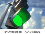 3d illustration. traffic light... | Shutterstock . vector #714798001