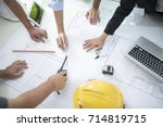 image of engineer meeting for... | Shutterstock . vector #714819715