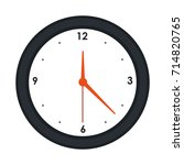 round wall clock icon image  | Shutterstock .eps vector #714820765