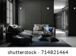interior living studio mock up  ... | Shutterstock . vector #714821464