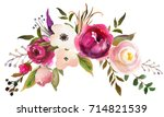 pink bordo peach white... | Shutterstock . vector #714821539