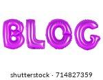 purple alphabet balloons  blog  ... | Shutterstock . vector #714827359