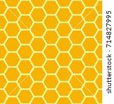 seamless honeycomb background... | Shutterstock .eps vector #714827995