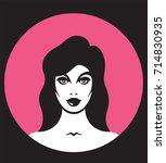 pretty woman vector... | Shutterstock .eps vector #714830935