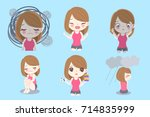 woman with depressed problem on ...   Shutterstock .eps vector #714835999