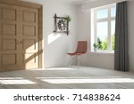 white empty room with summer... | Shutterstock . vector #714838624