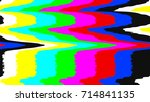 no signal tv test pattern.... | Shutterstock .eps vector #714841135
