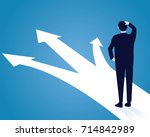 vector illustration. business... | Shutterstock .eps vector #714842989