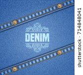 denim background with... | Shutterstock .eps vector #714848041