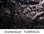 golden glitter texture... | Shutterstock . vector #714854131