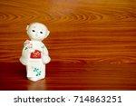 japan doll   Shutterstock . vector #714863251