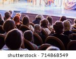 the audience in the theater... | Shutterstock . vector #714868549