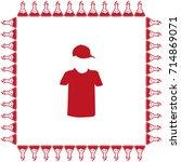 tshirt vector icon | Shutterstock .eps vector #714869071