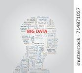 big data of human | Shutterstock .eps vector #714871027