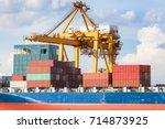 industrial business loading... | Shutterstock . vector #714873925