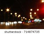 street light   defocused photo  ... | Shutterstock . vector #714874735