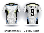 soccer jersey template. mock up ... | Shutterstock .eps vector #714877885
