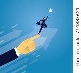 vector illustration. business... | Shutterstock .eps vector #714883621