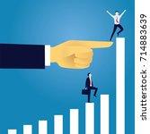 vector illustration. business... | Shutterstock .eps vector #714883639