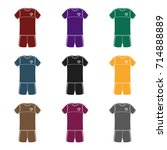 form of the belgian football... | Shutterstock .eps vector #714888889