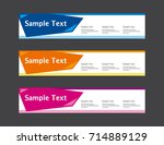 vector abstract web banner... | Shutterstock .eps vector #714889129