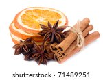 Sliced Dried Orange With...