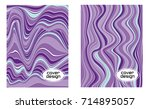 cover layouts collection with... | Shutterstock .eps vector #714895057