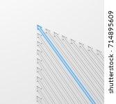 leadership concept  blue leader ... | Shutterstock . vector #714895609