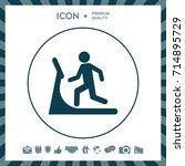 man on treadmill icon | Shutterstock .eps vector #714895729