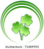 Three Green Shamrocks With...