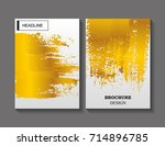 abstract brochure design.flyer... | Shutterstock .eps vector #714896785