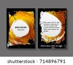 abstract brochure design.flyer... | Shutterstock .eps vector #714896791