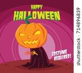 halloween poster design... | Shutterstock .eps vector #714896839
