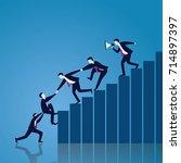 vector illustration. business... | Shutterstock .eps vector #714897397