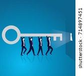 vector illustration. business... | Shutterstock .eps vector #714897451