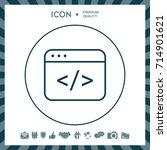 code editor icon | Shutterstock .eps vector #714901621