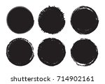 grunge post stamps.distressed...   Shutterstock .eps vector #714902161