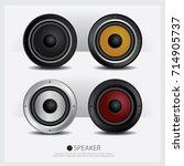 speakers isolated vector...   Shutterstock .eps vector #714905737
