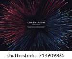 lines composed of glowing... | Shutterstock .eps vector #714909865