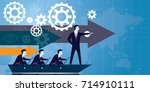 vector illustration. leadership ... | Shutterstock .eps vector #714910111