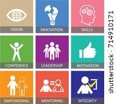 vector illustration. leadership ... | Shutterstock .eps vector #714910171