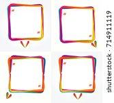speech bubble set isolated on a ... | Shutterstock . vector #714911119